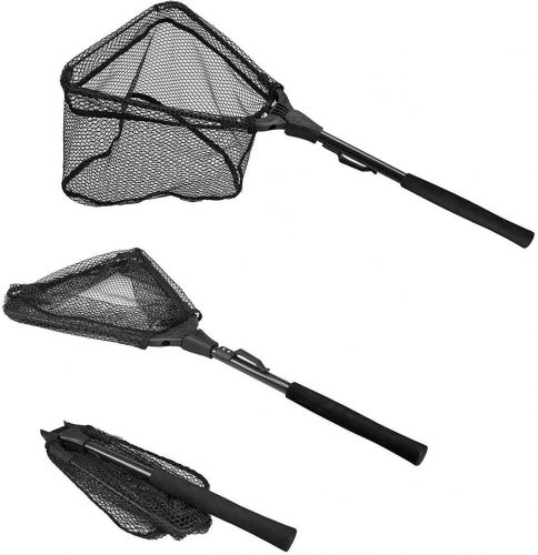 PLUSINNO Fishing Net, Foldable, Telescopic Pole Handle