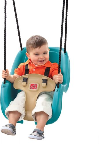 Infant to toddler swing seat, turquoise