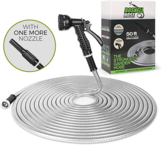BOSNELL- Metal Hose 50FT, Dog Free and Kink Free