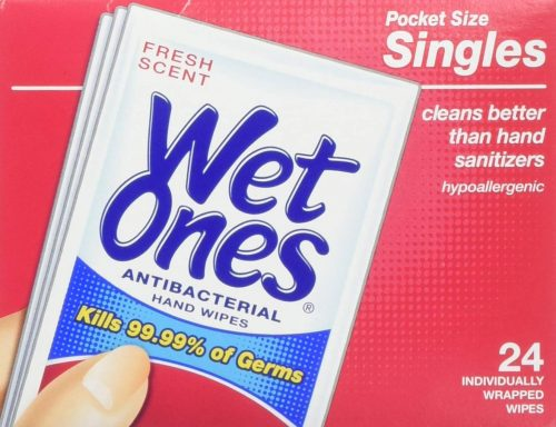 Wet One's Antibacterial Hand and Face Wipes Singles
