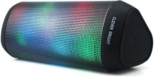 Portable Wireless Bluetooth Speakers LED Lights 7 Patterns Visual Wireless Speaker V4.1