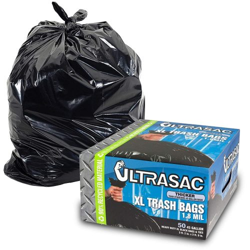 Heavy Duty 45 Gallon Trash Bags by Ultrasac
