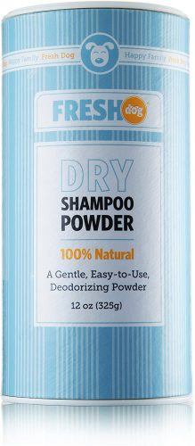 Fresh Dog Dry Shampoo Powder for Dogs and Puppies
