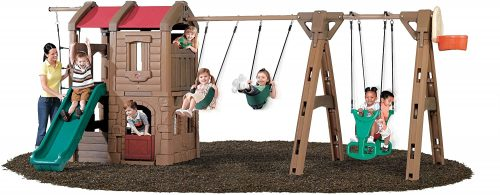 Step2 Naturally Playful Adventure Lodge Play Center Swing Set with Glider
