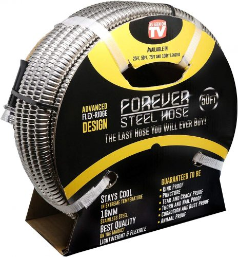 Forever Steel Hose, Stainless-Steel 25-Foot 304