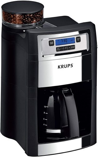 KRUS Grind and Brew Auto-start Coffeemaker and Burr Grinder