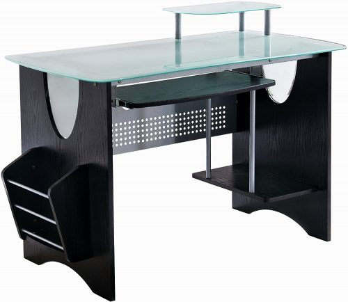 Stylish Frosted Glass Top Computer Desk