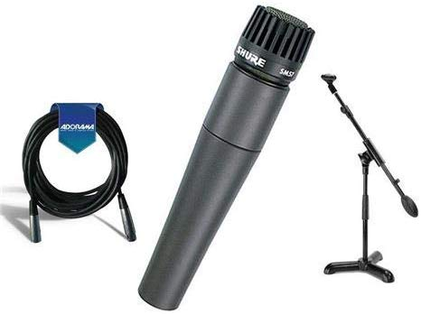 Shure SM57-LC Cardioid, Dynamic Handheld Wired Microphone