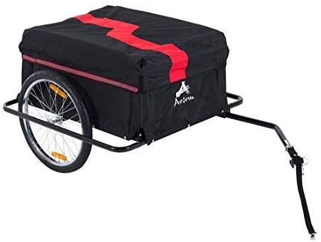 Tidyard Enclosed Bike Cargo Trailer with Removable Cover