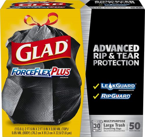 Glad ForceFlexPlus Drawstring Large Trash Bags
