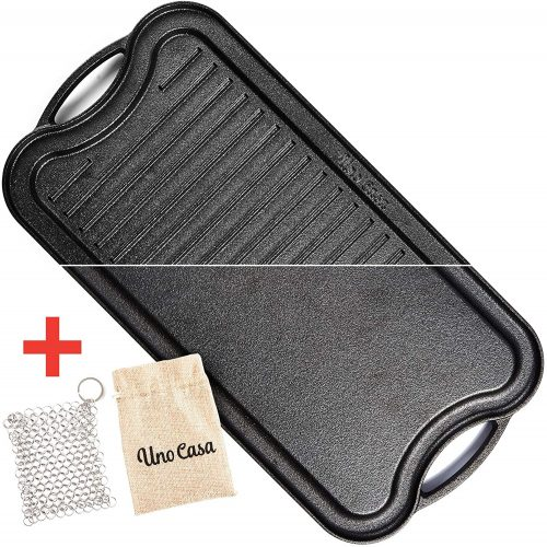 Uno Casa Cast Iron Griddle Grill Pan