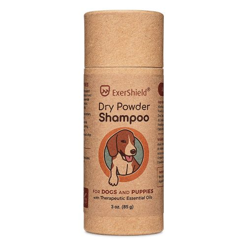Dry powder shampoo for dogs and puppies