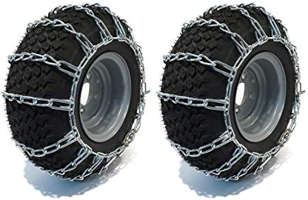 The ROP Shop | Pair of 2 Link Tire Chains 15x5x6 for Snow Blowers