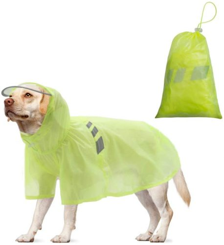 Easy to Use//Store A Bonus Storage Bag Reflective Dog Raincoat with Hood /& Harness Hole for Small|Medium|Large Dogs Puupy Hoodie Rain Jacket Poncho Clothes Waterproof,Magic Tape Closure Adjustable