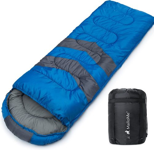 MalloMe Camping Sleeping Bag - 3 seasons Camping Gear Equipment