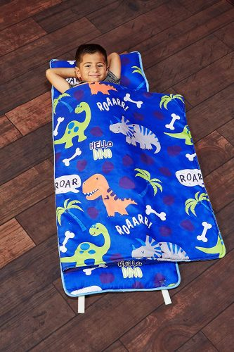 EVERYDAY KIDS Sleeping bag, Toddler Nap Mat, Removable Pillow