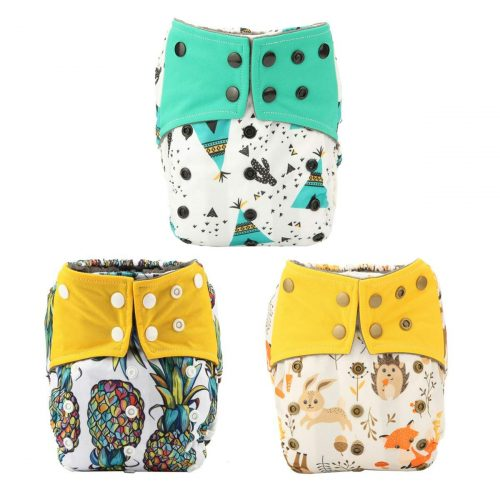 ALVABABY Cloth Diapers One Size