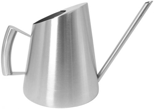 Cesun Metal Watering Can Solid Stainless Steel Pot with Long Spout