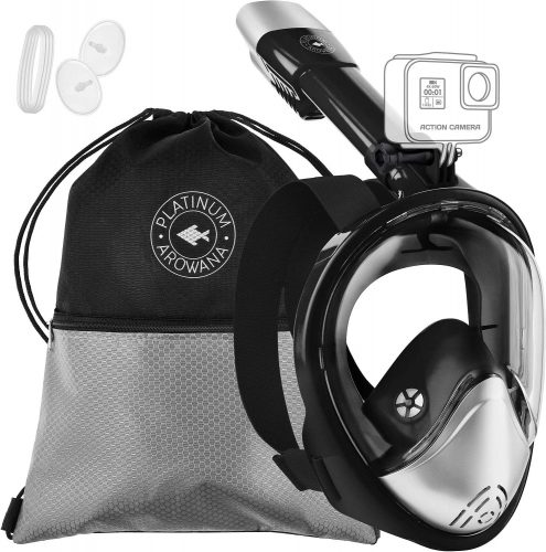 Full Face Snorkeling Goggles- Panoramic View- 180 Degree Viewing