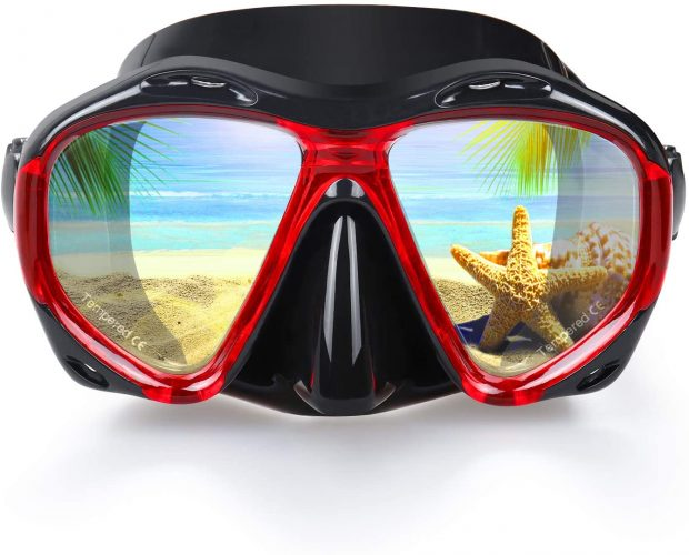 EXP VISION Snorkel Diving Mask Set with a Panoramic HD