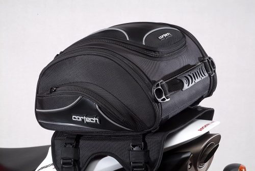Cortech Super 2.0 24-Liter Motorcycle Tail Bag - Black