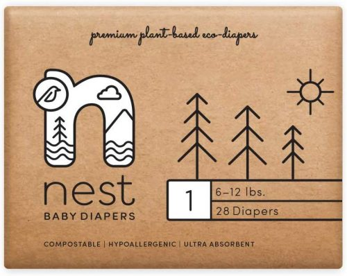 Nest Baby Diapers; Size 1: 6-12 lbs.