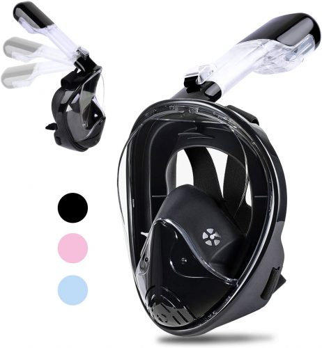 Greatever Snorkel Mask-Foldable Panoramic View Full Face Snorkeling Mask