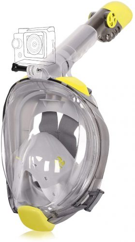 Unigear Full Face Snorkel Mask - Panoramic 180° View