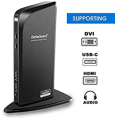 Zettaguard USB 3.0 Universal Laptop Dual Monitor Docking Station