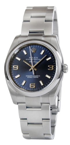 Rolex Airking Blue Arabic Dial Domed Bezel Mens Watch 114200BLASO [Watch] Rolex