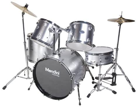 MDS100-SR 5-Piece Drum Set by Mendini