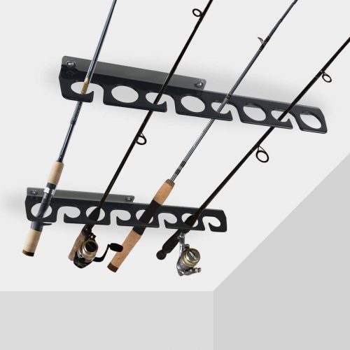 6.Homydom Fishing Rod Ceiling or Wall Storage Rack, Fishing Pole Holder