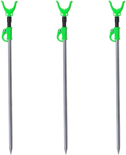 M80 TX 3 Pack - Aluminum Telescopic Fishing Rod Rack/Holders