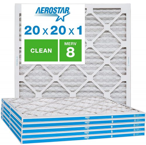 Aerostar Clean House 20x20x1 MERV 8 Pleated Air Filter