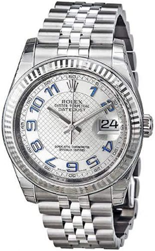 Rolex Datejust 36 Automatic Silver Dial Stainless Steel Jubilee Ladies Watch