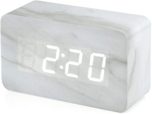 Marble Pattern Alarm Clock by Oct17