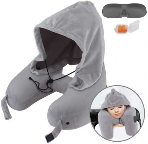 Neck Pillow Inflatable Travel Pillow Comfortably Supports The Head
