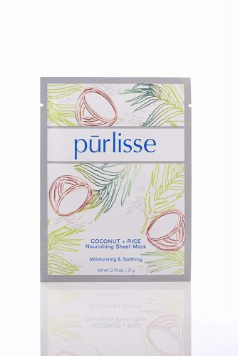 purlisse Coconut and Rice Nourishing Sheet Face Mask