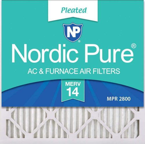 Nordic Pure 20x20x1 MERV 14 Pleated AC Furnace Air Filters