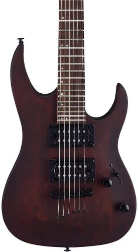 MM100 Mini Double Cutaway Electric Guitar Walnut Stain by Mitchell