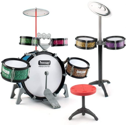 13 Pieces Toddlers Jazz Drum Set by EAHUMM