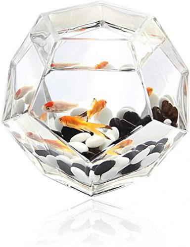 Multi-Faceted Glass Fish Tank by OMEM
