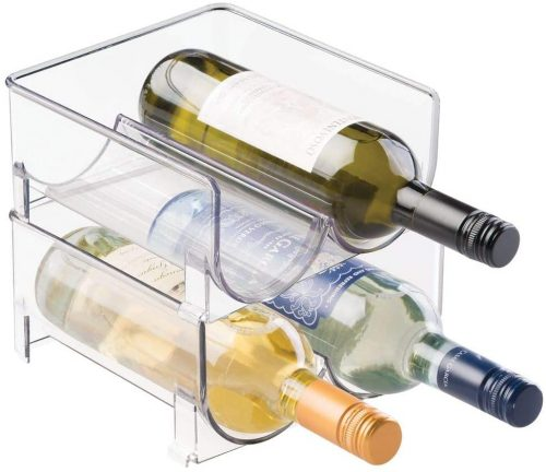 mDesign Plastic Wine Rack