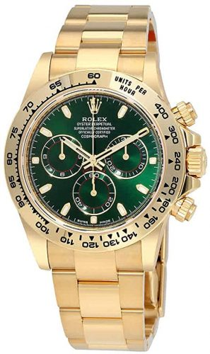 Rolex Cosmograph Daytona Green Dial 18K Yellow Gold Oyster