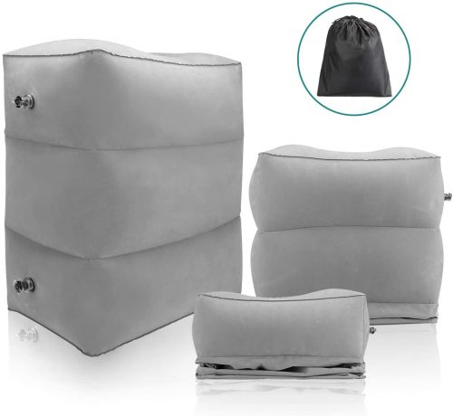 Maliton Inflatable Travel Foot Rest Pillow