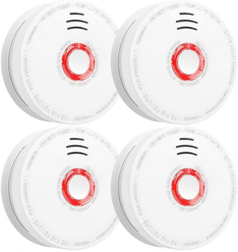 Smoke and Fire Detector 4-Pack