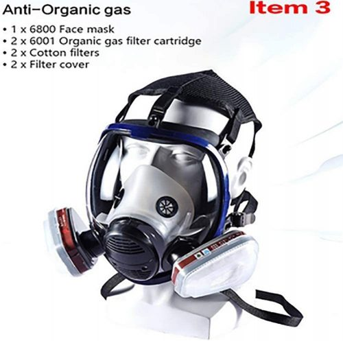 Full Seal Protection Rubber Respirator