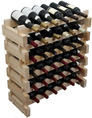 DisplayGifts WN36 36 Bottle Wine Rack