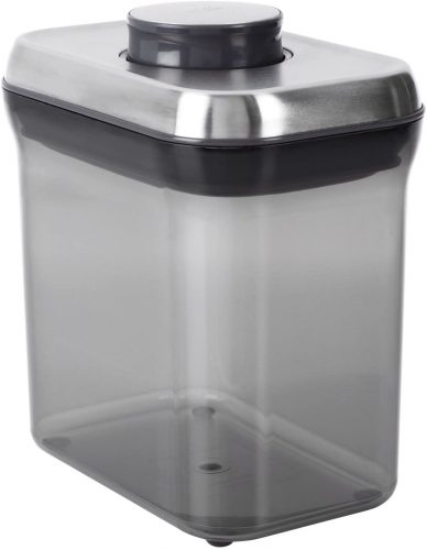 OXO 1195400 Good Grips Airtight Coffee POP Container (1.5 Qt),Silver/Grey
