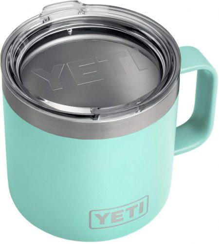 YETI Rambler 14 oz Mug, Stainless Steel, Vacuum Insulated with Standard Lid